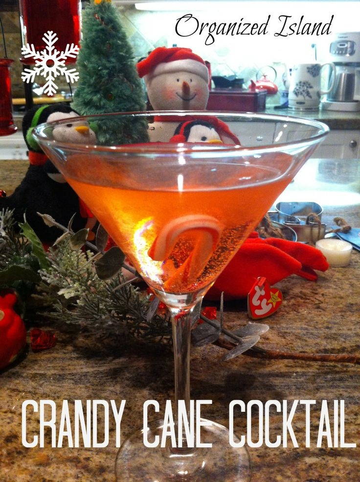 Festive Beverages ~  Two great holiday drinks made with vodka: Candy Cane Cocktail (shown) and Cape Cod Kiss.  Recipes @: http://www.organizedisland.com/2012/12/19/festive-beverages/