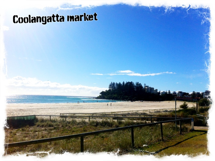 What a great view from my stall at the Coolangatta art and craft market