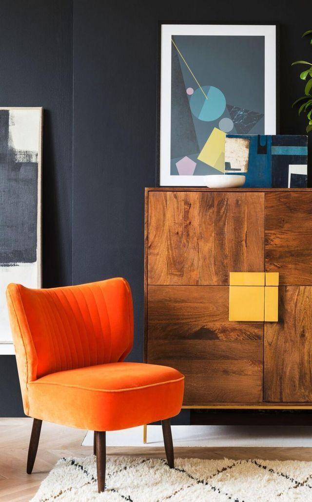 Mid Century Modern Interior Decor Dark And Bright Colour Scheme Home Decor Trends Home Decor Trends 2018 Unique Home Decor