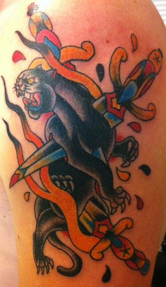 17 best ideas about traditional panther tattoo on for Panther tiger tattoo