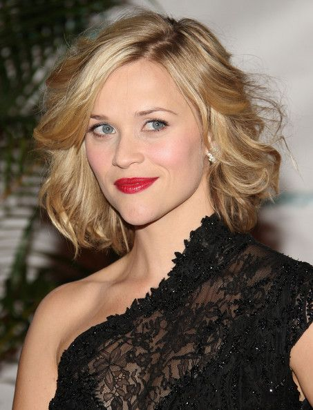 Reese Witherspoon: Short Hair, Reesewitherspoon, Reese Witherspoon, Bobs, Hair Styles, Wavy Bob, Makeup, Bob Hairstyles, Haircut
