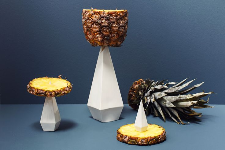 ido garini composes luscious food cravings with conical utensils
