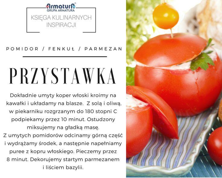 Szybka, zdrowa i pyszna przekąska? Oto nasza propozycja. Pomidory faszerowane fenkulowym musem i oprószone parmezanem to nietypowe danie, które zaskoczy Waszych gości. #ArmaturaKraków #kuchnia #Kitchen #Food #KsięgaKulinarnychInspiracji #Recipes #Przepisy #Inspirations #Przystawka #Pomidor #Fenkuł #PartyFood #parmezan