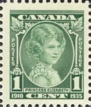 Canada Stamp - 211 (1935) Princess Elizabeth