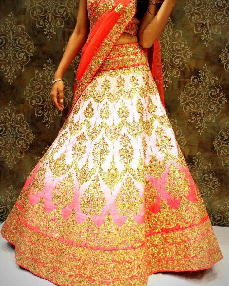 "wedmegood: ""Pretty Ombre Lehenga by @dalmiafashions #lehenga #indianbride #indianwedding #bridallehenga"""