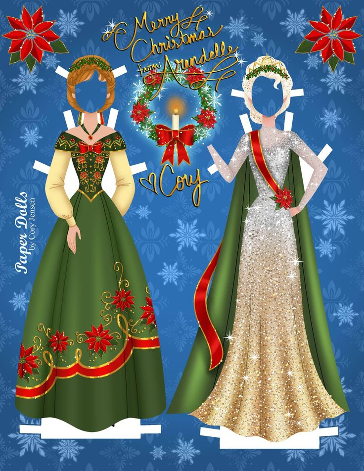 "Anna and Elsa from Disney's ""Frozen,"" paper dolls by Cory Jensen (16 of 19)"