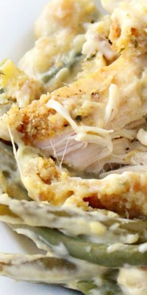 Creamy Crockpot Chicken, Stuffing and Green Beans ♥️ Family Fresh Meals