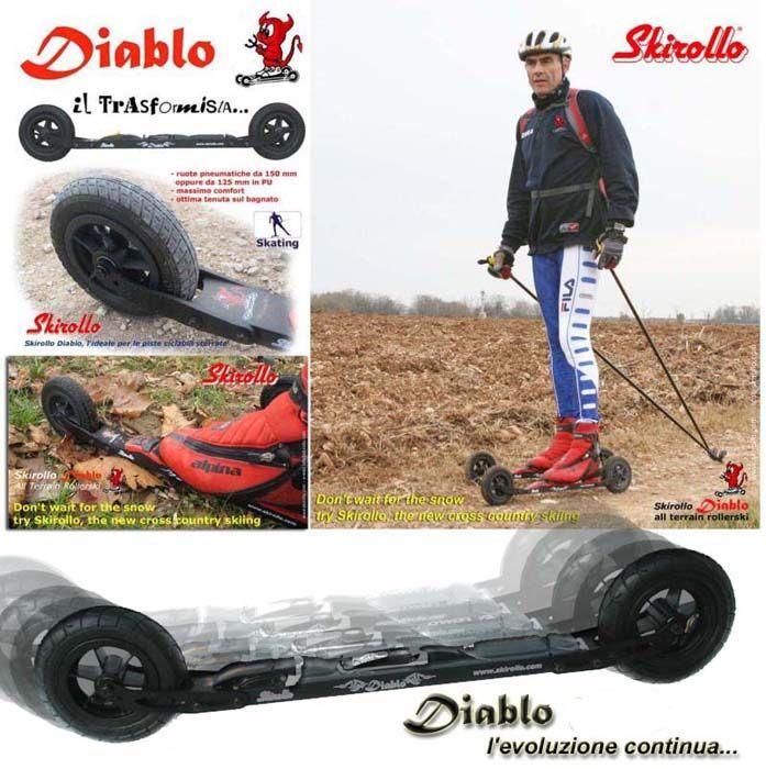 Skirollo Diablo - Multi-terrain rollerskis - www.skiroll.it