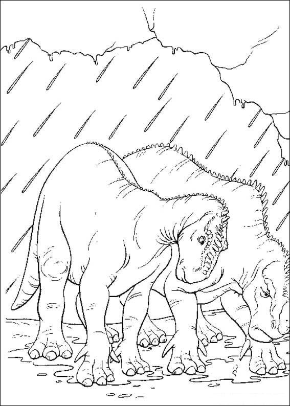 Aladar And Other Group Of Dinosaur The Movie Coloring Pages