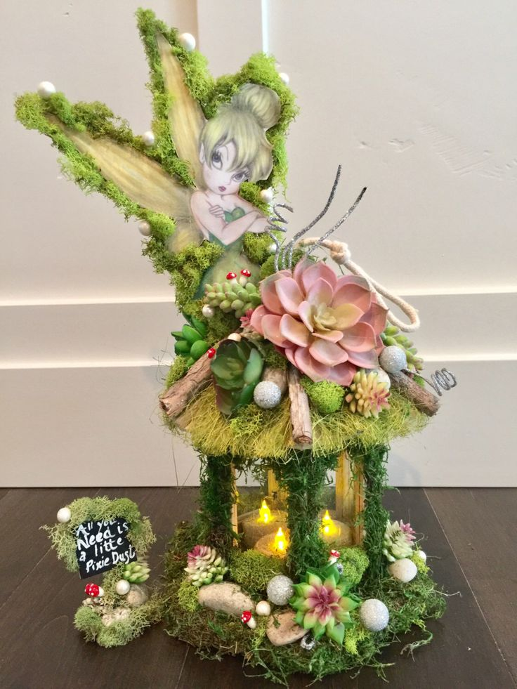 Tinkerbell, Centerpiece Candle , Enchanted Forest, Tinkerbell, Cake Topper,  Wedding, Party