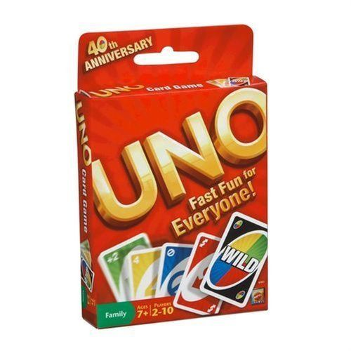 Original UNO Card Game 108 Card Deck 8 Wild Cards Two-Handed Tournament Options #Mattel