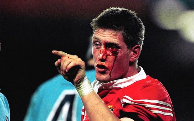 Ronan O'Gara after he was punched repeatedly by McRae.