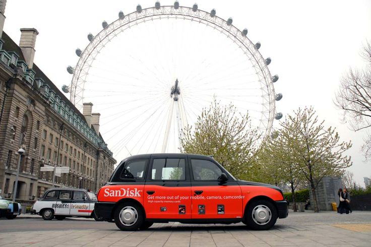 SanDisk branding - London Black Cab - Advertising