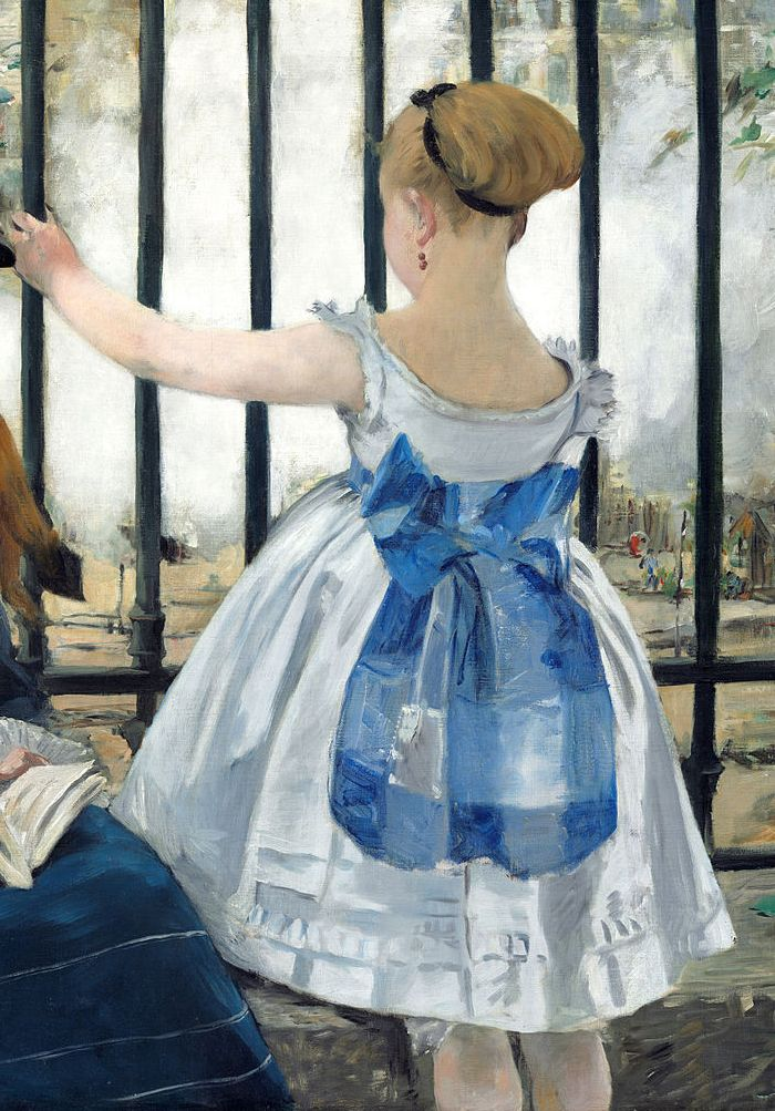 """artemisdreaming: """"The Railroad detail, 1873, National Gallery of Art Édouard Manet """""""