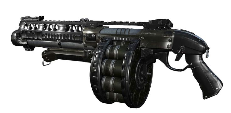 The AS-24 Devastator is a an automatic shotgun that uses explosive rounds as ammo. The rounds used in it are powerful enough to pierce through multiple weaker enemies. Unlike the Rocket Launcher, the Devastator's rounds travel at a much faster speed, allowing them to be used effectively at a much longer distance, aim compensation is still required as the rounds do not hit instantly.  It has a magazine capacity of 20 rounds.