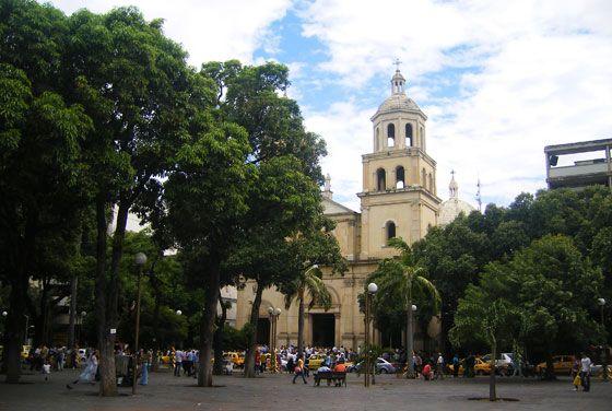 San Jose Cathedral on parque Santander, Cucuta, Colombia