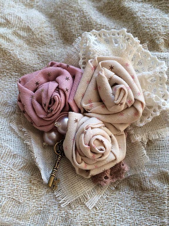 Брошь текстильная Тайна - бежевый,брошь,бохо,бохо-стиль,бохо брошь,брошь цветок