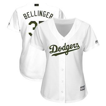 Cody Bellinger Los Angeles Dodgers Majestic Women s 2018 Memorial Day Cool  Base Player Jersey – White 23eeccb26e0