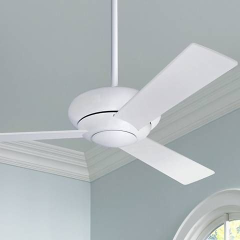 """42"""" Modern Fan Altus Gloss White Modern Ceiling Fan"""