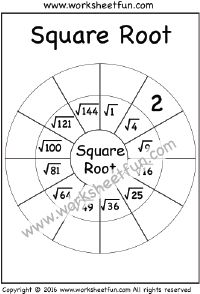 square root 1 worksheet squares square roots pinterest squares math and square roots. Black Bedroom Furniture Sets. Home Design Ideas