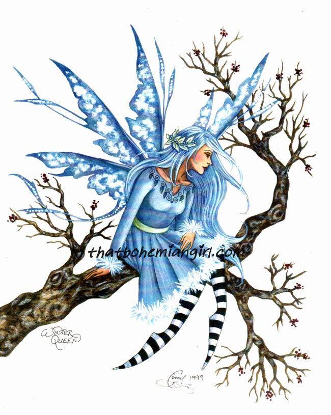 Amy Brown Winter Queen Faery Print
