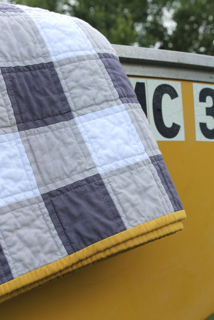 Another custom quilt. This bad boy is big, sized for snuggling in the cool, fall Washington weather. 100% cotton fa...