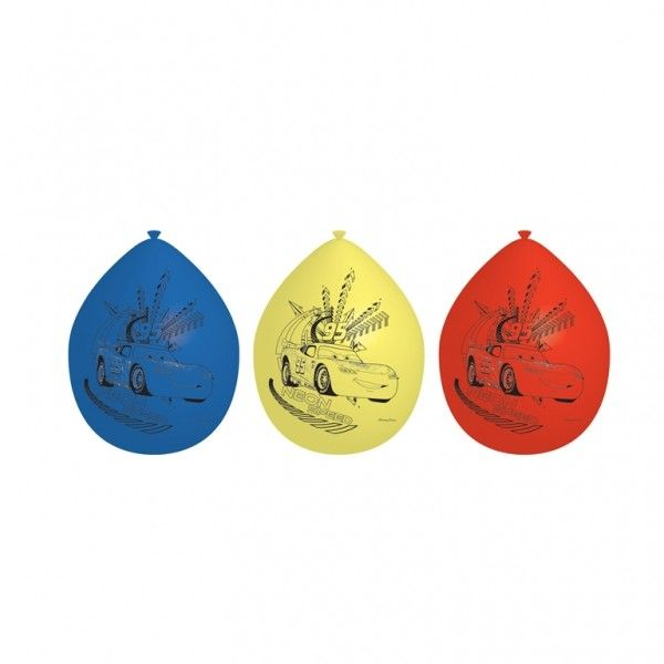 Disney Cars balloner i flotte farver.
