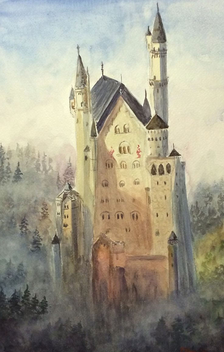 Neuschwanstein - watercolour cm 38x56