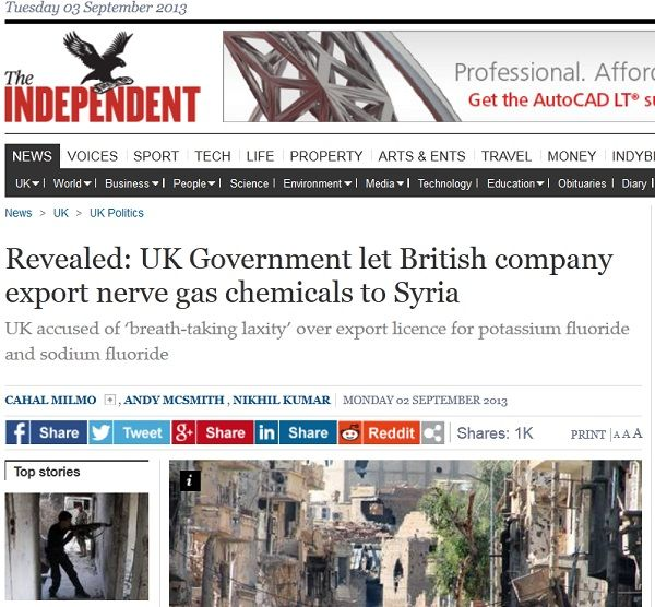 Syria's 'chemical weapons' turn out to be sodium fluoride the same thing used in the U.S. water supply