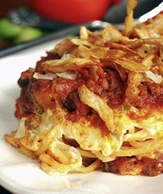 Scooter's Spaghetti (Creamy Spaghetti Casserole)