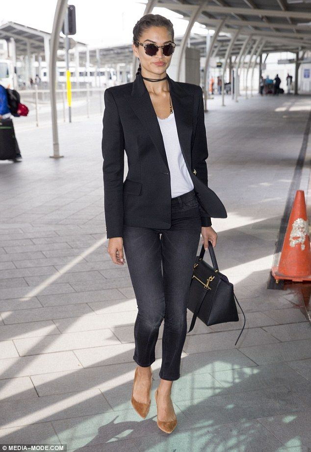 Shanina Shaik touches down in Sydney ahead of the Myer Autumn/Winter fashion launch | Daily Mail Online