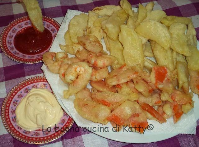 La buona cucina di Katty: Zucca patate e gamberoni in tempura