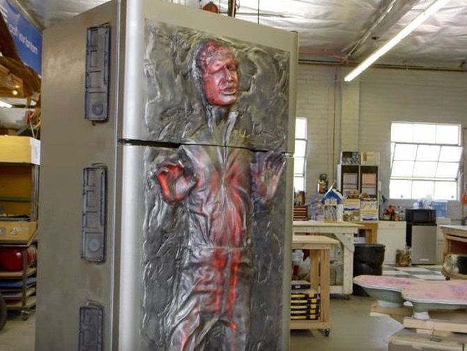 Stay cool with a DIY refrigerator that traps Han Solo in carbonite!