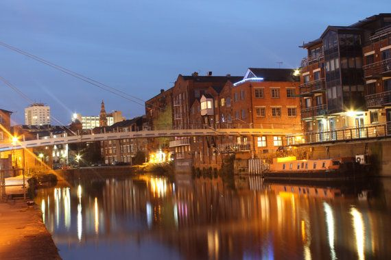 Leeds at Night by DWhitePhotography on Etsy