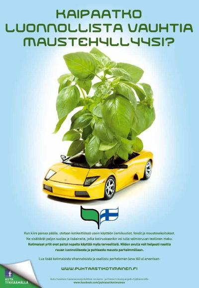 Puhtaasti kotimainen - Kaipaatko luonnollista vauhtia maustehyllyysi? 2012