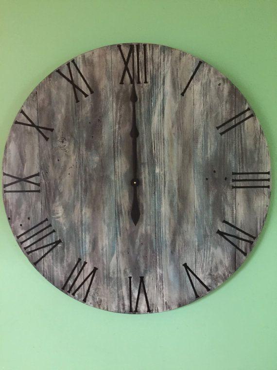Large Wall ClockWood Wall Clock Reclaimed by WoodCreationsbyDino