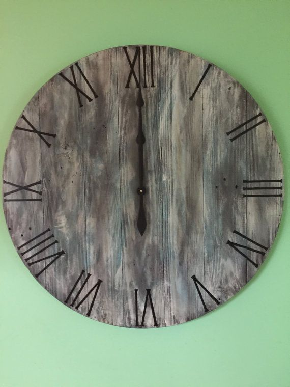 Large Wall ClockWood Wall Clock Reclaimed by WoodCreationsbyDino