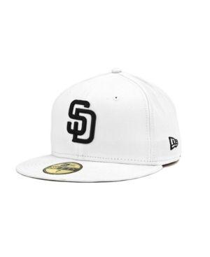 New Era San Diego Padres Mlb White And Black 59FIFTY Cap - White 8