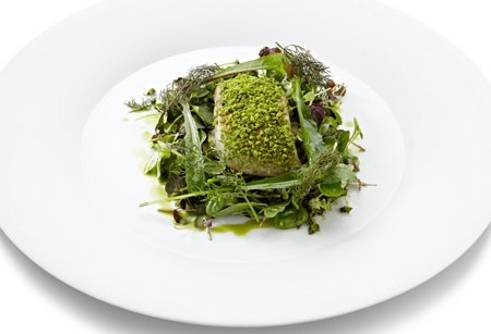 Google Image Result for http://content.achica.com/806A2F/AchicaWebsite/achicaliving/wp-content/uploads/2011/10/Tom-Aikens-Seabass-e1344605866876-450x307.jpg Baked sea bass with pistachio, courgette lasagne & garden herbs