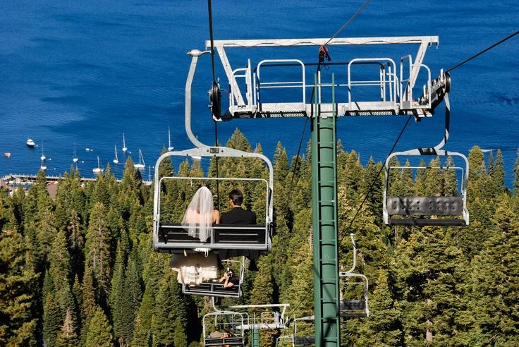 Lake Tahoe Lake Weddings Outdoor Weddings Ski Lift Weddings