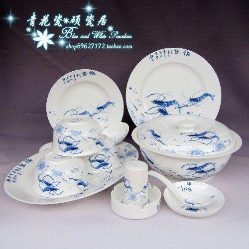 Barato Azul e branco da porcelana de mesa Jingdezhen guci yi xing cerâmica porcelana porcelana de ossos disco tigela de cerâmica sopa 56 conjuntos de camarão., Compro Qualidade Conjuntos de louça diretamente de fornecedores da China: Azul e branco da porcelana de mesa Jingdezhen guci yi xing cerâmica porcelana porcelana de ossos disco tigela de cerâmica sopa 56 conjuntos de camarão.