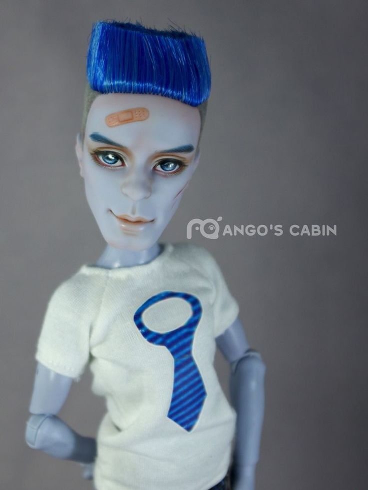 "Monster High Repaint Custom OOAK ""Andy"" by Mango's Cabin 4-Adult Mattel"