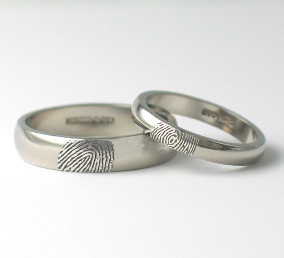Fingerprint Wedding Rings. www.fluidity-design.co.uk