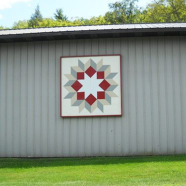 "Amish Barn Quilt Signs | ... Barn Quilts,"" even though technically they aren't fabric ""quilts"