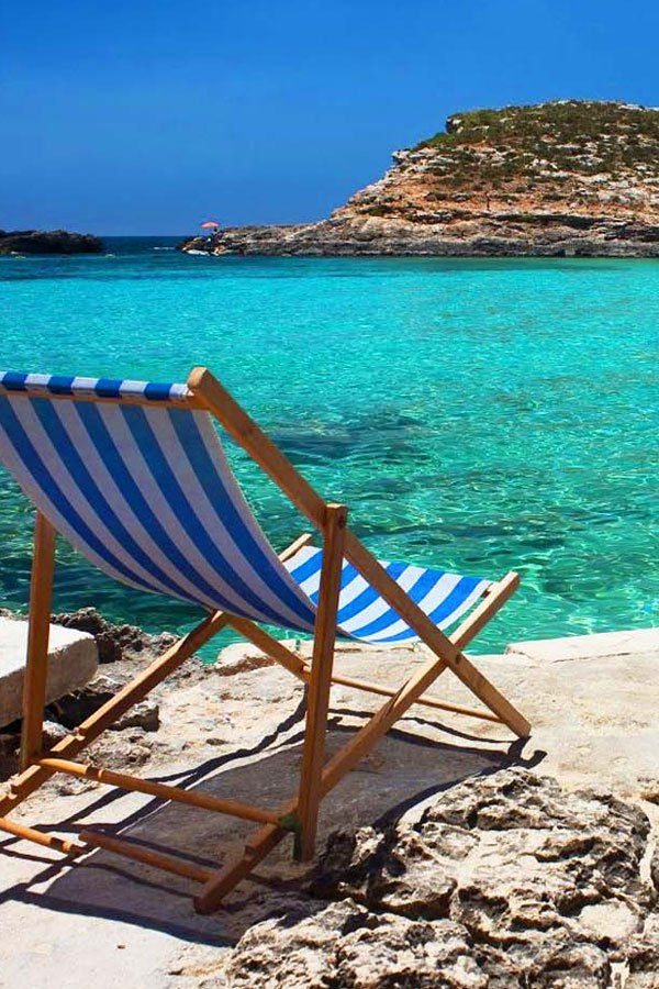 Fig Tree Bay, Protaras, Cyprus. That's my chair, don't know where the rest of you are sitting!