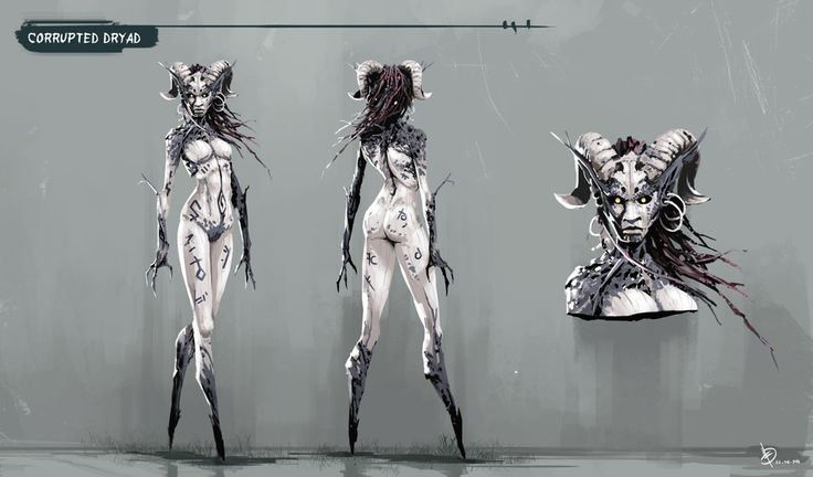 Corrupted Dryad by Ignacio Felechosa | Illustration | 2D | CGSociety