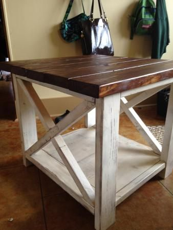 The Rustic X side table | Do It Yourself Home Projects from Ana White