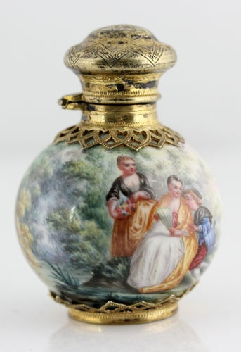 Antique Museum Quality French Gilt Silver Enamel Enameled Perfume Scent 1838 | eBay