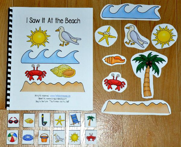"Free  ""I Saw It at the Beach"" Adapted Song Book"