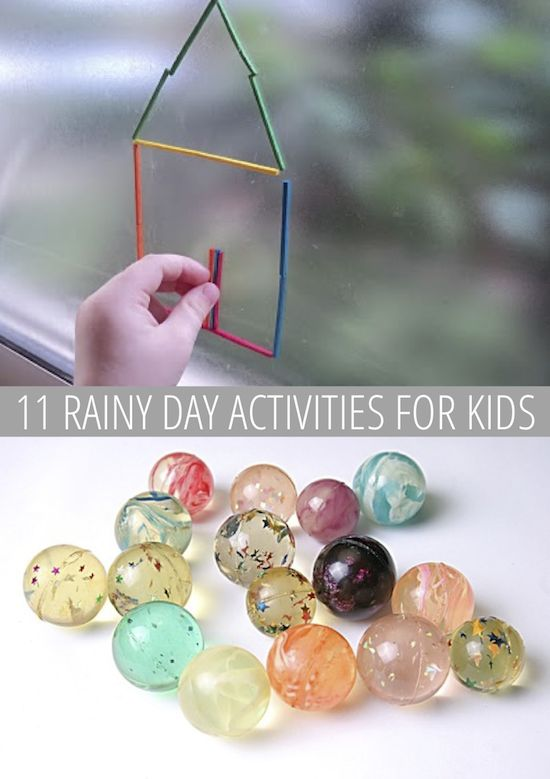 Whether it's a rainy day or you just can't bear the heat, here are 11 great indoor activities for the kids!